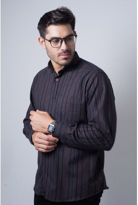 Camisa casual masculina tradicional flanela bordo f04521a
