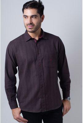 Camisa casual masculina tradicional flanela bordo f01067a