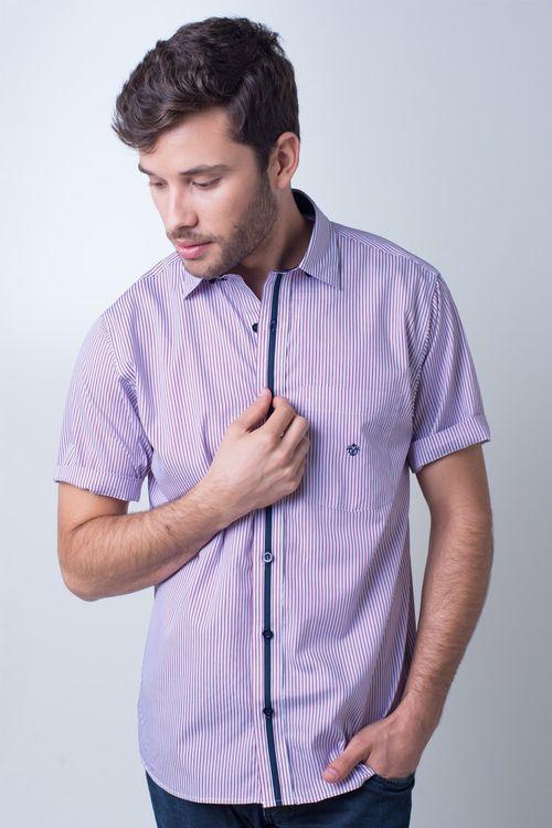 Camisa casual masculina tradicional algodão fio 80 vermelho f01279a