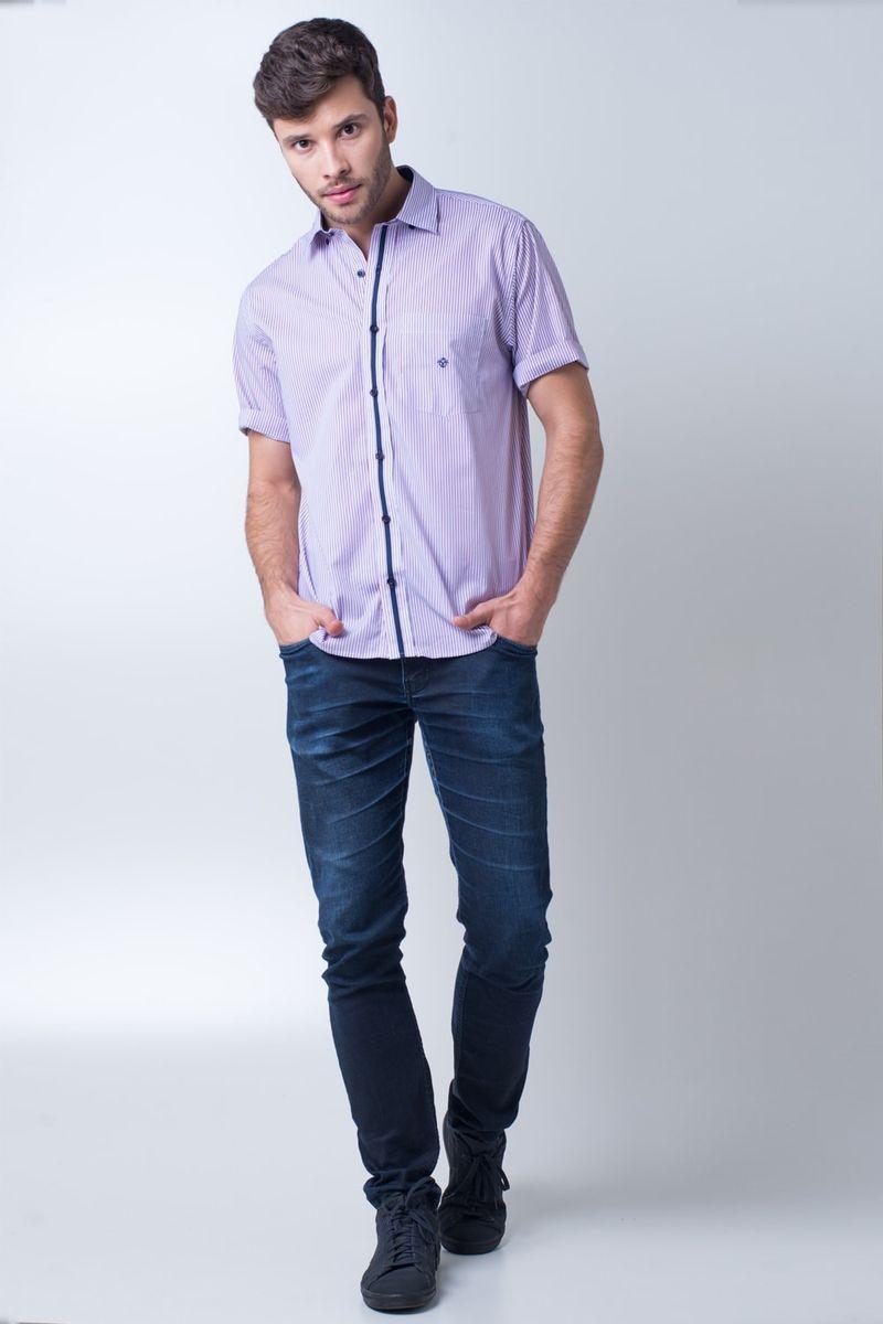 Camisa-casual-masculina-tradicional-algodao-fio-80-vermelho-f01279a-detalhe2