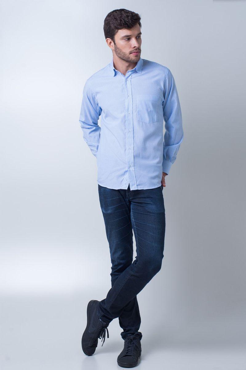 Camisa-casual-masculina-tradicional-algodao-azul-claro-f01755a-detalhe2