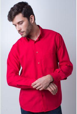 Camisa casual masculina tradicional microfibra vermelho f06208a