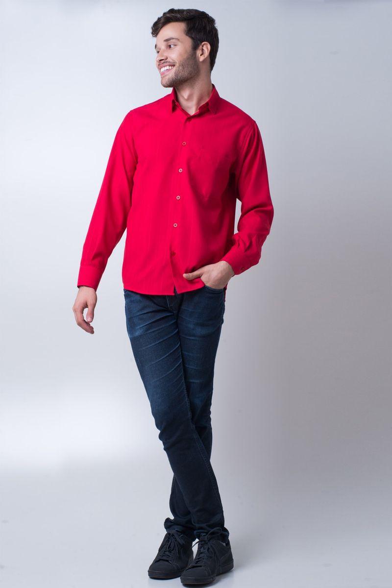 Camisa-casual-masculina-tradicional-microfibra-vermelho-f06208a-detalhe2