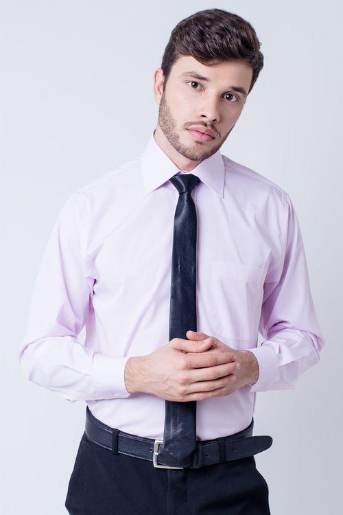 Camisa social masculina tradicional algodão fio 60 rosa f03823a