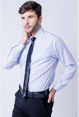 Camisa social masculina tradicional algodão fio 60 branco f03823a