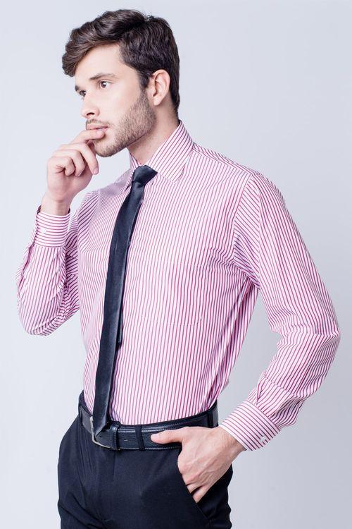 Camisa social masculina tradicional algodão fio 60 bordo f03823a