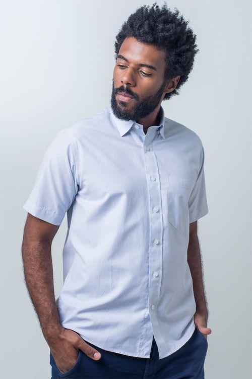 Camisa básica masculina tradicional algodão fil a fil cinza r07060a