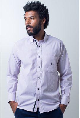 Camisa casual masculina tradicional algodão fio 50 vermelho f01384a
