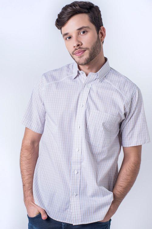Camisa casual masculina tradicional algodão fio 60 branco f01449a