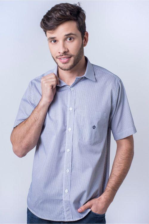 Camisa casual masculina tradicional algodão fio 60 cinza f01453a