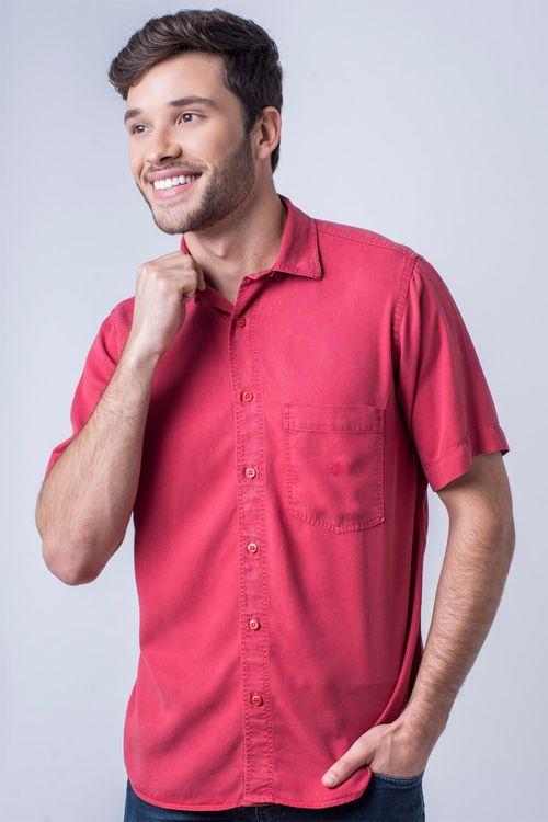Camisa casual masculina tradicional tencel vermelho f06020a