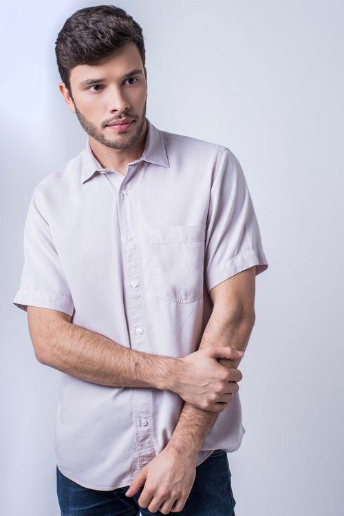 Camisa casual masculina tradicional tencel lilás f06020a