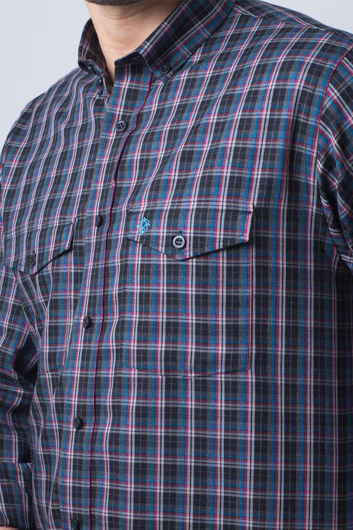 Camisa casual masculina flanela light grafite f01836a