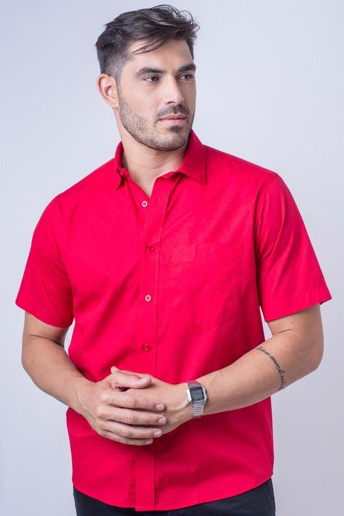 Camisa básica masculina tradicional algodão fio 40 vermelho f09903a