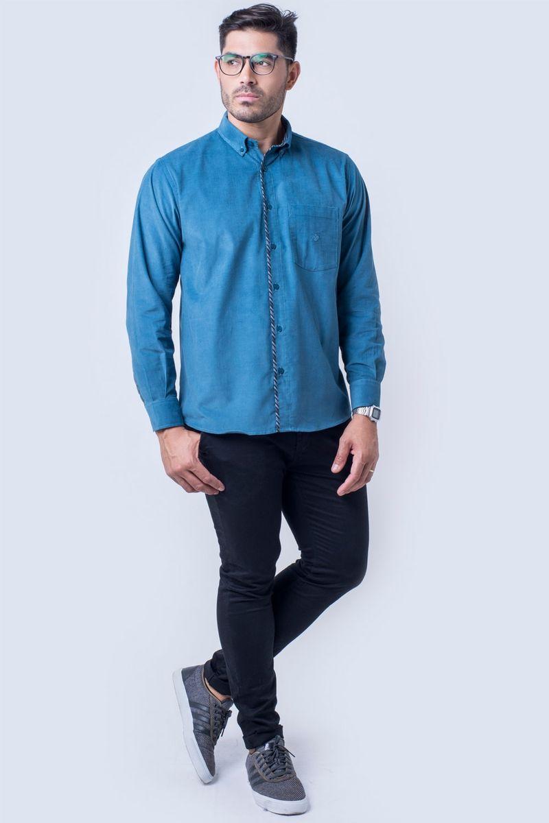 Camisa-casual-masculina-tradicional-veludo-azul-f01529a-detalhe2