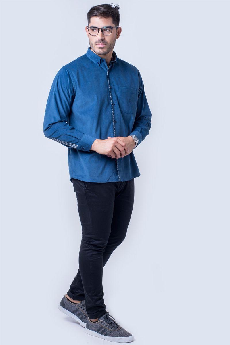 Camisa-casual-masculina-tradicional-veludo-azul-escuro-f01529a-detalhe2