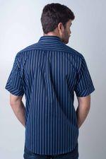 Camisa-casual-masculina-tradicional-algodao-fio-80-azul-escuro-f01421a-2
