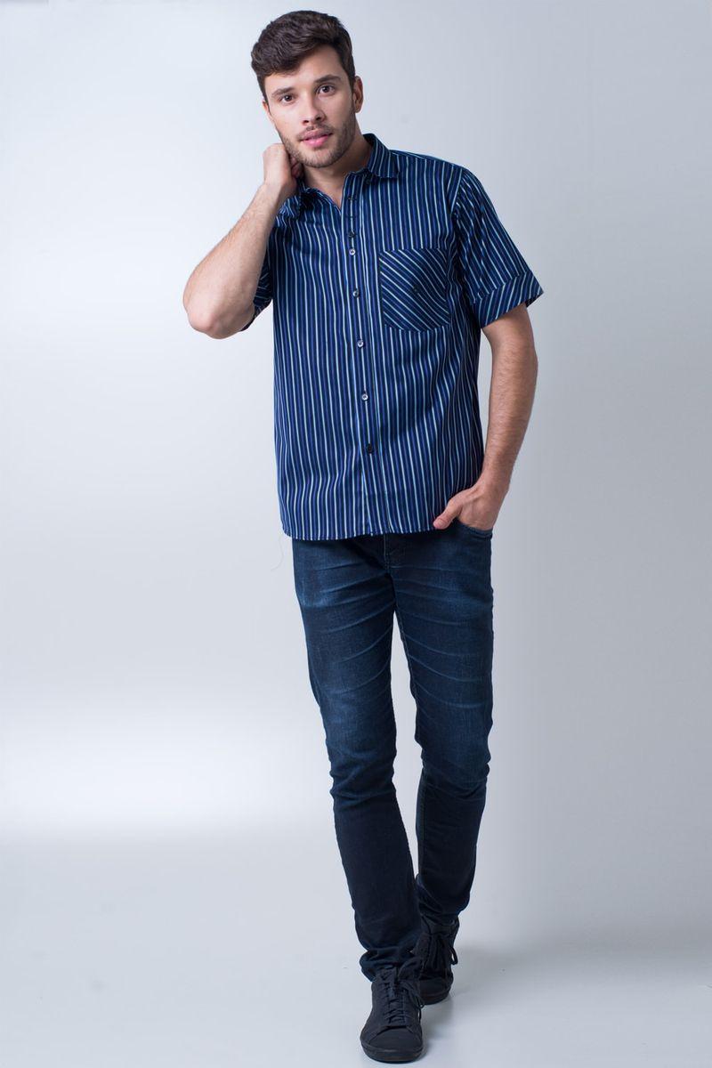 Camisa-casual-masculina-tradicional-algodao-fio-80-azul-escuro-f01421a-4