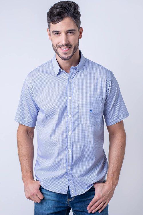 Camisa casual masculina tradicional algodão fio 60 azul claro f01453a
