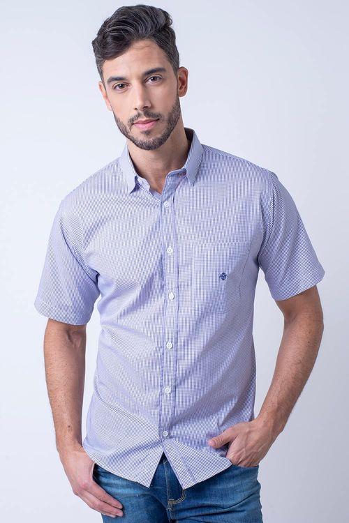 Camisa casual masculina tradicional algodão fio 60 lilás f01453a