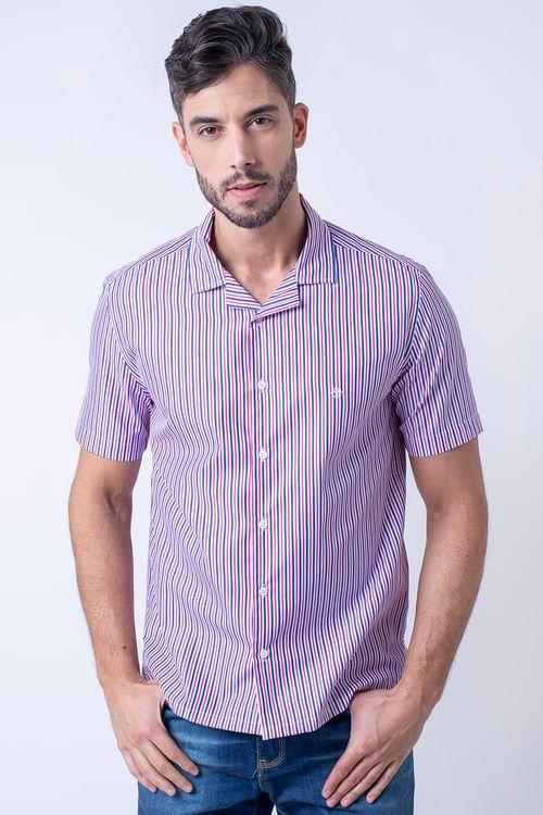 Camisa casual masculina tradicional algodão fio 60 rosa f01506a