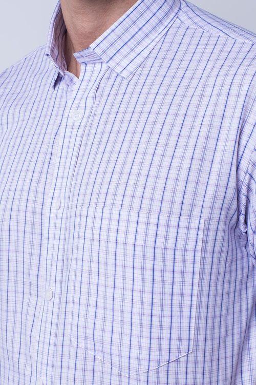 Camisa casual masculina tradicional algodão fio 40 rosa f05527a