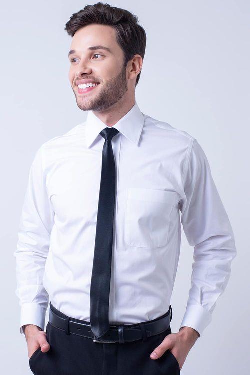 Camisa social masculina tradicional algodão fio 80 branco f09938a
