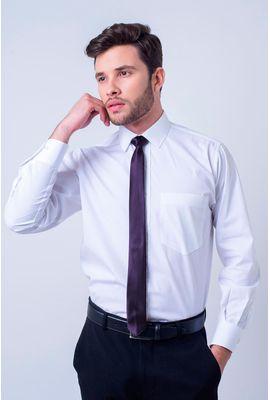 Camisa social masculina tradicional algodão fio 120 branco f09941a