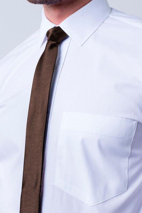 Camisa social masculina tradicional algodão fio 40 branco f09935a