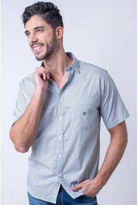 Camisa casual masculina tradicional algodão fio 60 verde f01453a