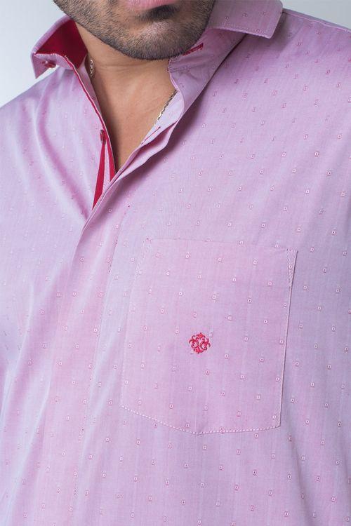 Camisa casual masculina tradicional algodão fio 60 vermelho f01039a