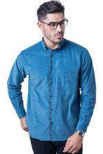Camisa-casual-masculina-tradicional-veludo-azul-f01529a-5