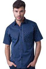 Camisa-casual-masculina-tradicional-algodao-fio-80-azul-escuro-f01421a-5