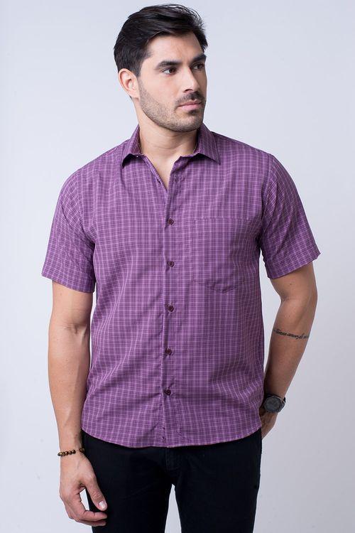 Camisa casual masculina tradicional microfibra roxo f07525a