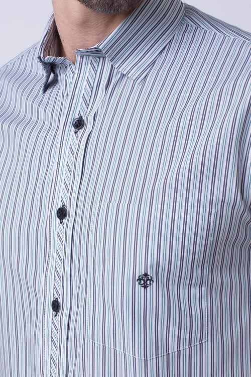 Camisa casual masculina tradicional algodão fio 50 verde f08467a