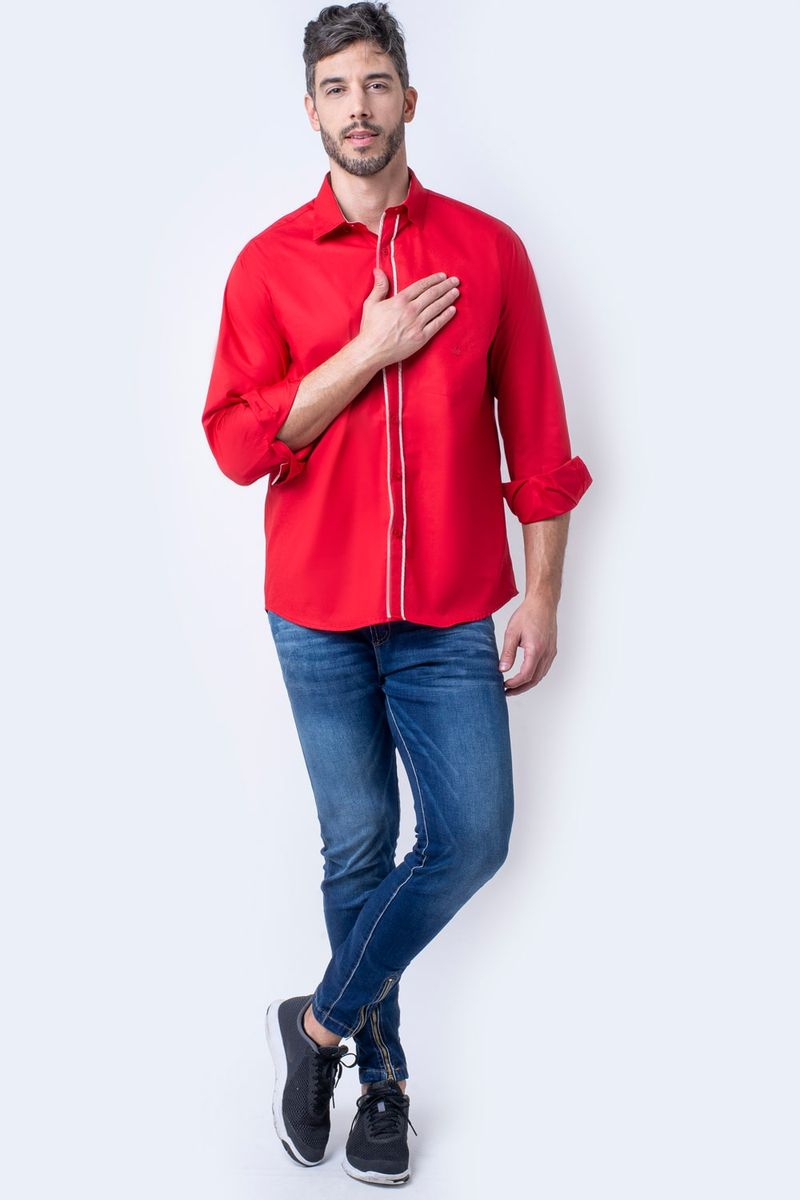Camisa-casual-masculina-tradicional-algodao-fio-40-vermelho-f02043a-4