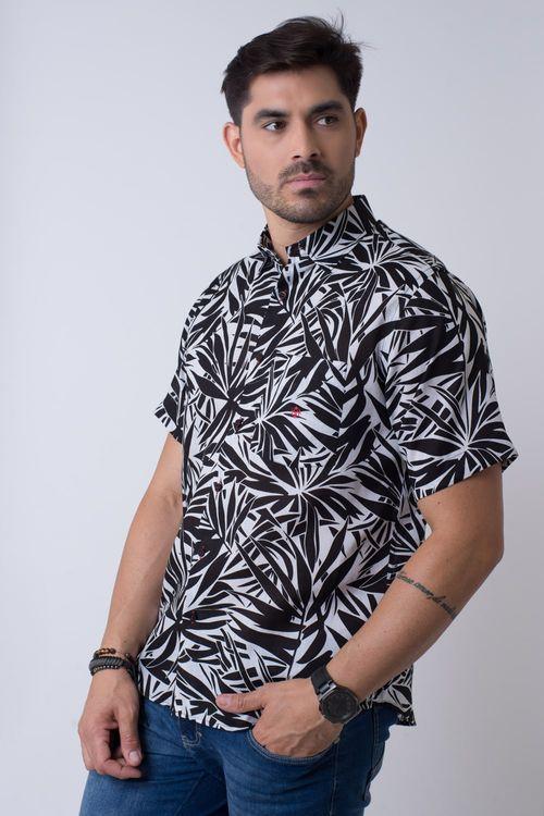 Camisa casual masculina tradicional rami preto f02110a
