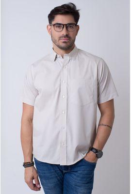 Camisa básica masculina tradicional algodão fio 40 marrom r09903a