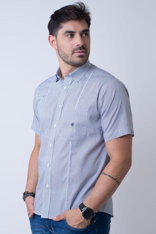 Camisa casual masculina tradicional algodão fio 60 preto f01381a