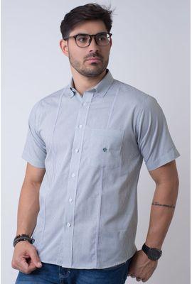 Camisa casual masculina tradicional algodão fio 60 verde f01381a