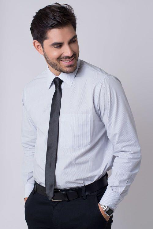 Camisa social masculina tradicional algodão fio 50 grafite r01281a