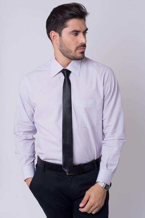 Camisa social masculina tradicional algodão fio 50 lilás r01281a