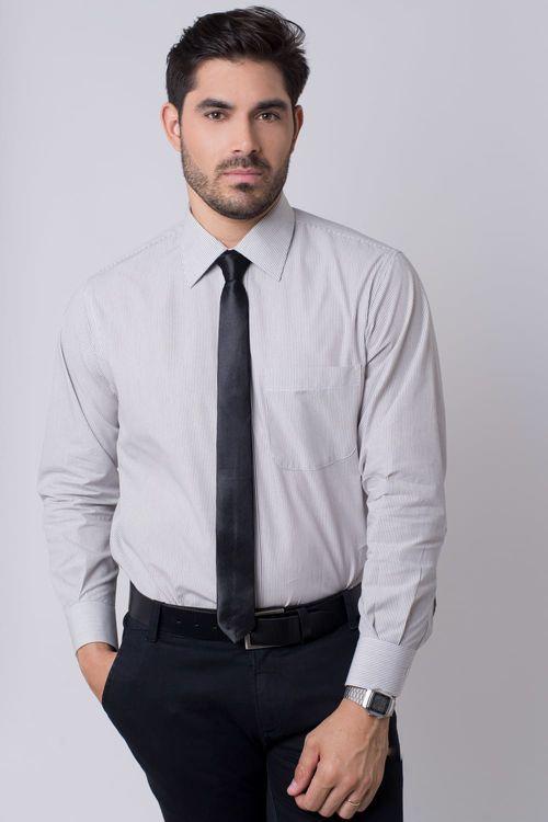 Camisa social masculina tradicional algodão fio 50 preto r01281a