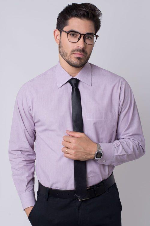 Camisa social masculina tradicional algodão fio 50 roxo r01281a