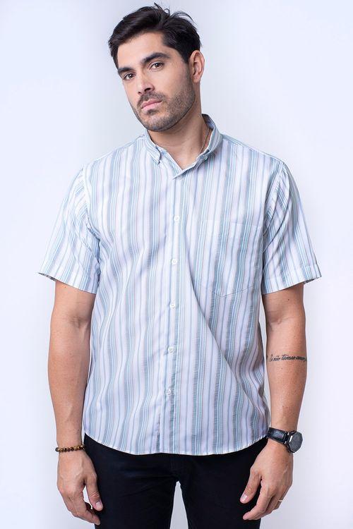 Camisa casual masculina tradicional microfibra verde f07500a