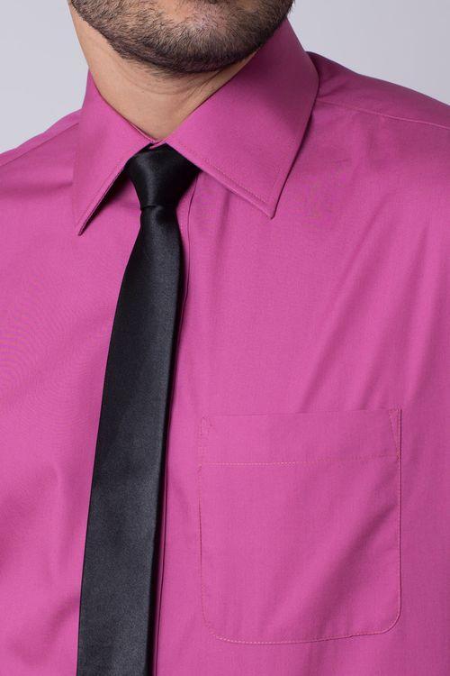 Camisa social masculina tradicional algodão fio 50 pink f06334a