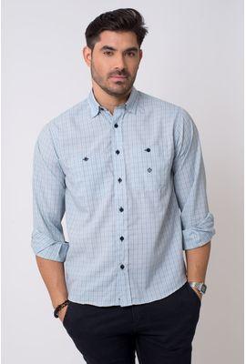 Camisa casual masculina tradicional microfibra gelo f01791a