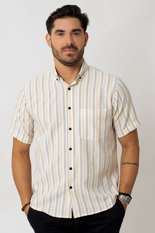 Camisa casual masculina tradicional microfibra rosa f07938a