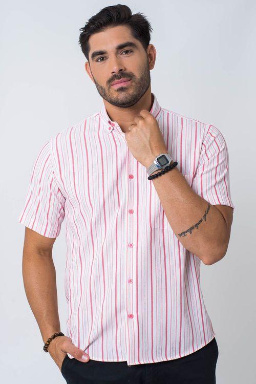 Camisa casual masculina tradicional microfibra vermelho f07940a