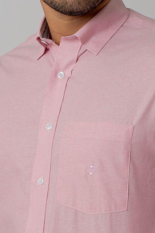 Camisa casual masculina tradicional oxford rosa f02090a
